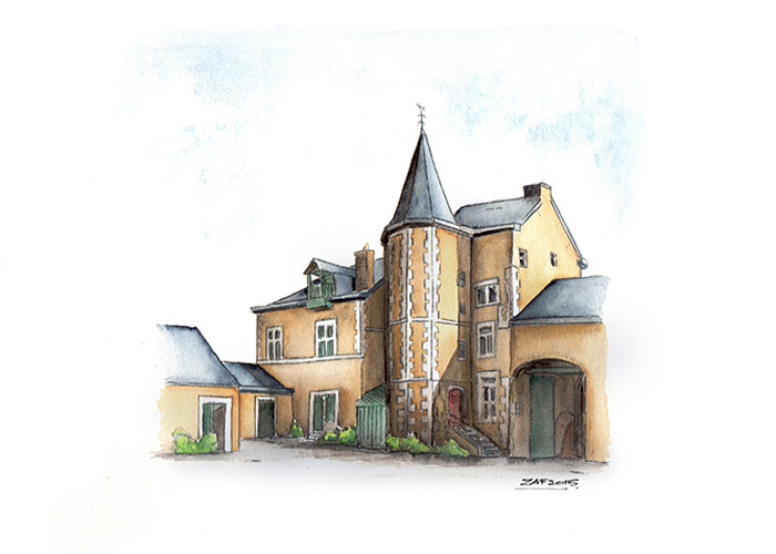 European Cottage In Watercolor