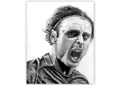 Berbatov Charcoal Portrait