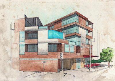 LA Building WC Rendering