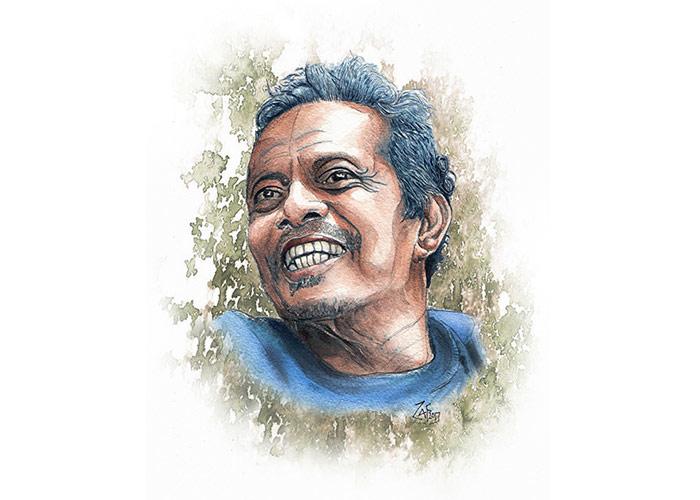 Watercolor Portrait of My Dad