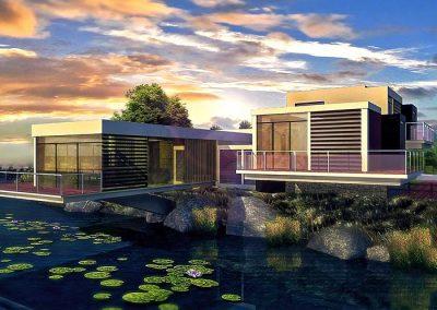 River Villa Rendering