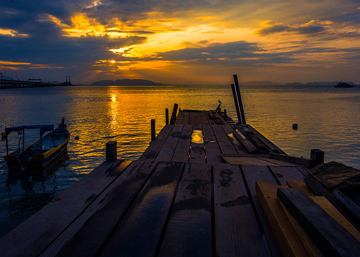 Sunrise in the Island of Penang