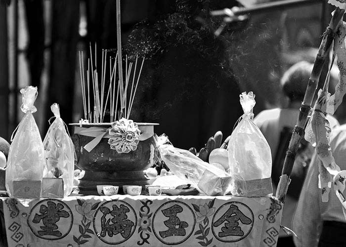 Black & White Photography Chinese Altar