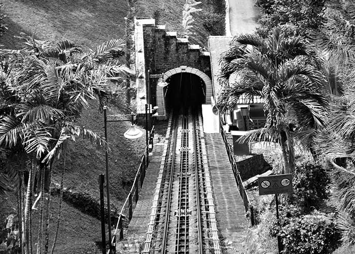 Black & White Photography : Penang Hill Tunnel