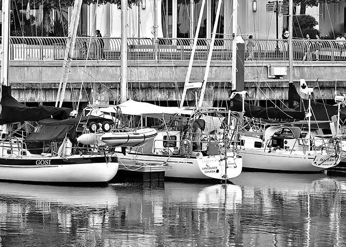 Black & White Photography: Boats
