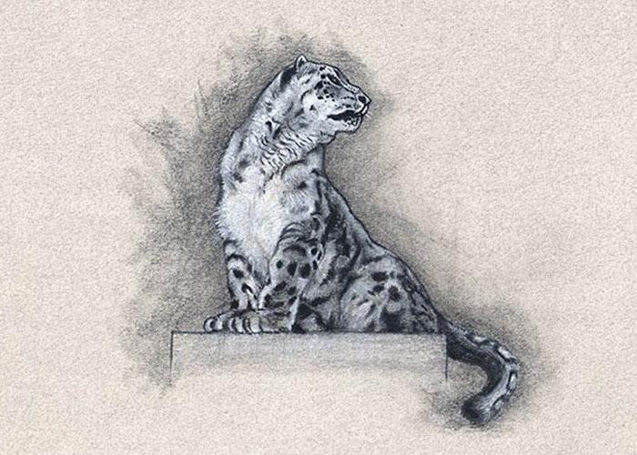 Snow Leopard Colored Pencils