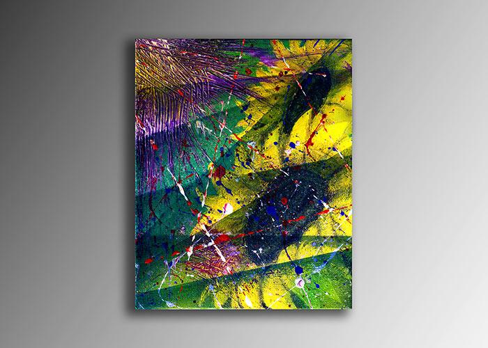 Sunflowers Semi Abstract Acrilic Painting